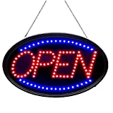Bright LED Open Sign for Business. WAENLIR 23x14inch Advertisement Board High Visibility Electric Display Sign,Two Modes Flashing&Steady Light for Business,Walls,Window,Shop,Bar,Hotel