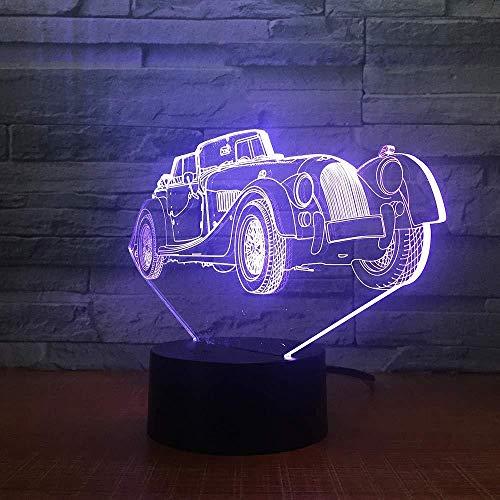 Nachtlicht Limousine Auto 3D Led Nachtlicht romantische Schlafzimmer Tischlampe Valentinstag Geschenk Luxus Auto Junge Kind Schlaflicht