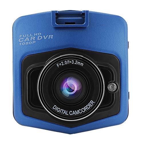 MagiDeal Cámara HD Coche DVR Cam Video Recorder Visión Nocturna Deportes DV Azul