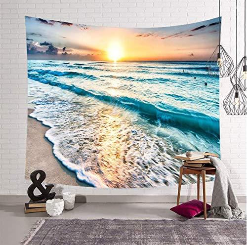 Tapis de camping tente de camping plage 150 * 200 cm couchage tapis de yoga couverture de plage tapis polyester eau de mer suspendue