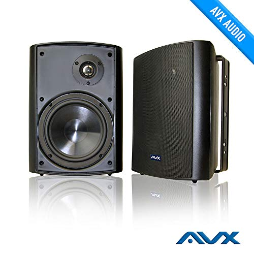 "6.5"" Outdoor Weatherproof Patio Speaker Pair (Black) PSP-B1 - by AVX Audio"