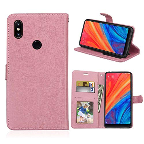 Gift_Source Xiaomi Mi Mix 2S Hülle, [Rosa] PU Leder Brieftasche Hülle Klapphülle Handy Schutzhülle Handyhülle mit Kartenfächer & Standfunktion Etui Tasche Handytasche für Xiaomi Mi Mix 2S (5.99