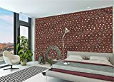 LCGGDB Tribal Large Wall Mural,Zig Zag Border Self-Adhesive Large Wallpaper for Office Kids Bedroom Nursery Family Decor-78x55 Inch