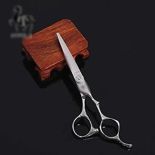方朝日スポーツ用品店 6インチ美容院プロの理髪はさみ、ハイエンドのプロの理髪ツールフラットはさみ (色 : Silver)
