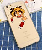 Coquefone Coque iPhone 5 / 5S / Se Luffy One Piece Os Grimace Manga Bande dessinée Japon