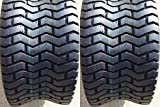 Set of Two (2) DEESTONE 24x12.00-12 24x1200-12 4 Ply Rated Tubeless Turf Tires