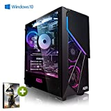 Megaport PC Gamer Warrior Intel Core i7-9700F 8X 3,00 GHz • GeForce RTX2060 6Go • 16Go DDR4 • 480Go SSD • 1To • Windows 10 Home Unité Centrale Ordinateur de Bureau PC Gaming PC Ordinateur