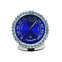 Idaii 車用 湿度計 車内湿度計 置き湿度計 排気口置き 4タイプの使用方法 夜光 ブルー柄