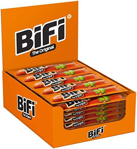 BiFi Original – Herzhafter Salami Fleischsnack – Geräucherte Mini Wurst als Snack to go –...