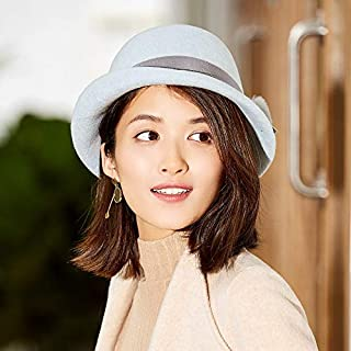 YANGBM Ms. Wool Hat Child, British Retro Hat, Bucket Hats, Autumn and Winter Warm Hat, Built with Sweat, Fit The Head, (Color : Blue)