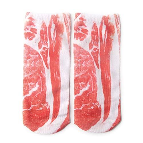 3D Gedrukt Vlees Skelet Diverse Patronen Sokken Persoonlijkheid Dames Boot Sokken rood & wit