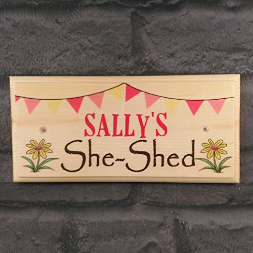 Personalised She Shed Sign, Garden Shed Plaque