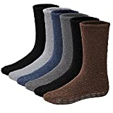 6 Pairs Mens Fuzzy Socks Grip Socks Microfiber Plush Sleeping Socks Soft Anti-Skid Solid Debra Weitzner