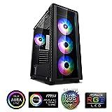 DeepCool Matrexx 50 Black Case ATX USB 3.0 PC Gaming 0.6MM SPCC Con 4 Ventole 120mm PWM RGB Rainbow Addressable 5V ADD Pannello Frontale e Laterale in Vetro Temperato (AxPxL 479x442x210 mm)
