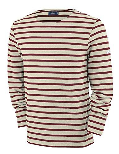 Saint James Meridien - Streifenshirt - Bretagne-Shirts Ecru/PERSAN (M)