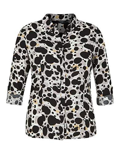 Bexleys Woman by Adler Mode Damen Bluse mit modischem Druck beige schwarz 58