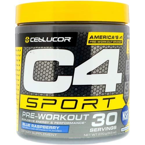 Cellucor C4 Sport Pre-Workout Powder Blue Raspberry, 195 g