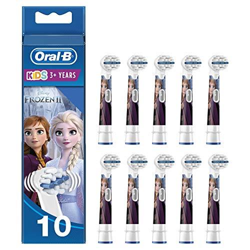 Oral-B Kids Testine di Ricambio per Spazzolino Elettrico con Disney Frozen 2 Personaggi, Confezione da 10, Testina Pensata Appositamente per i Bambini, dai 3 Anni in Su