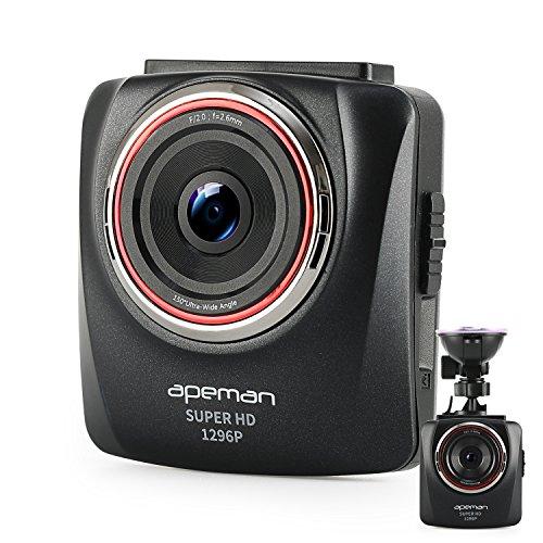"""APEMAN Dash cam super HD 1296P Auto kamera DVR 2,7"""" Dashboard Camcorder mit 150 ° Weitwinkelobjektiv mit G-Sensor, Wide Dynamic Range (WDR), Bewegung- und Collisionsdetektion, und integriertem Fahrspur Assistent"""