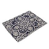 Manteles Individuales Con Estampado De Porcelana Azul Y Blanca De Estilo Chino, Impermeables Y Con Protección De Aislamiento Térmico, Tapetes Para Muebles, Adecuados Para Restaurantes Occidentales