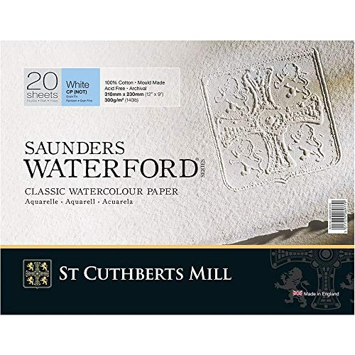 Papel Para Aquarela Saunders Waterford TF 300g/m² 31x23cm