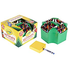 Crayola Ultimate Crayon Collection Coloring Set, Gift Age 3+ - 152 Count,Assorted Color 4 One Crayola Ultimate Crayon Collection Coloring Set with 152 crayons, 1 crayon sharpener, and 1 portable caddy These art tools for kids are double wrapped for added durability and strength Choose from 152 different colors, including metallic and glitter crayons