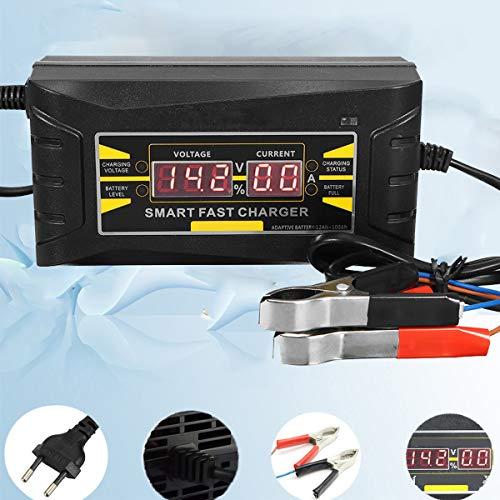 SHUGJAN Automático lleno de coche cargador de batería de 110V / 220V a 12V 6A Digital Pantalla inteligente rápida carga de la energía for el coche Accesorios de bricolaje herramientas de reparación