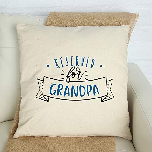 Blafitance - Federa per cuscino per festa della mamma, 30 x 40 cm, per il nonno, personalizzabile con nomi dei nipoti, federa quadrata, decorazione per divano letto, auto