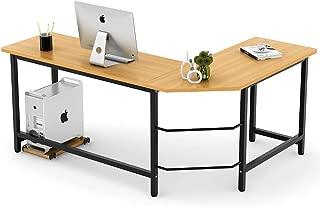 Tribesigns Modern L-Shaped Desk Corner Computer Desk PC Latop Study Table Workstation..