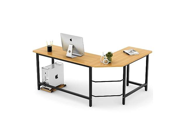 Best corner desk Choice Products Tribesigns Modern Lshaped Desk Corner Computer Desk Pc Latop Study Table Workstation Home Office Wood Metal teak Homes Of Ikea Best Corner Desk For Gaming Amazoncom