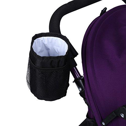 Bolsa de biberón, 1pc Seguro No tóxico Mantener el color negro caliente Bebida Botella de agua Soporte universal para cochecito de bebé Bolsa de taza de aislamiento