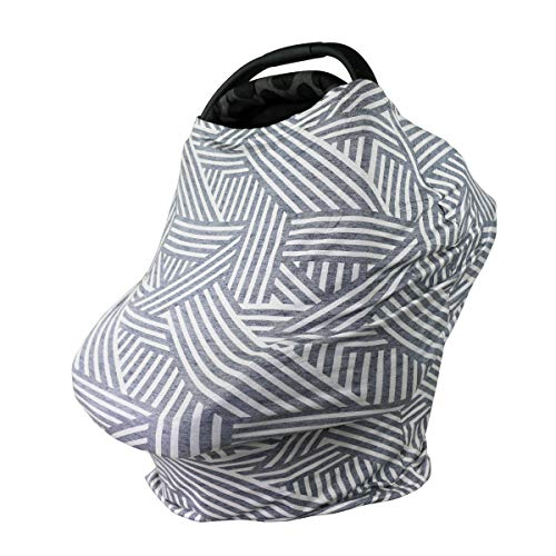 Bebe au Lait 5-in-1 Cover - Infinity Scarf, Car Seat Cover, Shopping Cart Cover, Carrier Cover and Nursing Cover - Tahoma