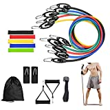 YOKEPO Resistance Bands Set, Exercise Bands with Door Anchor, Handles, Waterproof Carry Bag, Legs Ankle Straps for Resistance Training, Physical Therapy, Home Workouts Set