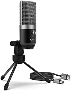 Fifine Technology USB Condenser Cardioid Recording Microphone Streaming Podcast