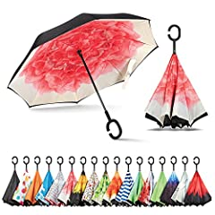 ☂ SUPERIOR PERFORMANCE - This exclusive Inverted umbrella is designed with durability, versatility and comfort in mind. We constructed this umbrella with premium carbon fiber material which is sturdy, corrosion resistant and features double-layer can...