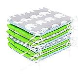 Bettumrandung Nest Kopfschutz Nestchen 420x30cm, 360x30cm, 180x30 cm Bettnestchen Baby Kantenschutz Bettausstattung MIX A2 (360x30 cm)