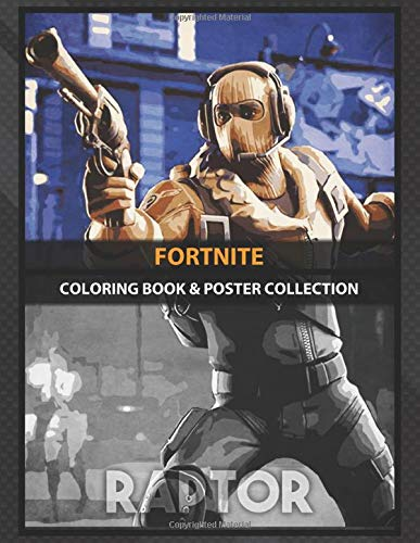 Coloring Book & Poster Collection: Fortnite Raptor Gaming