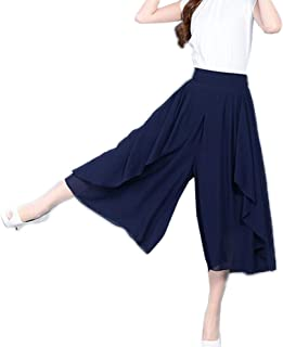 レディース ガウチョパンツ スカンツ ウエストゴム パンツ 無地 ワイドパンツ ゆったり スカーチョ パンツ きれいめ 大きいサイズ 春夏 体型カバー スカート7分丈 9分丈 ガウチョ スカート風 おしゃれ
