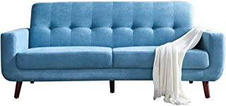 Romatlink Modern Classic Loveseat Sofa, Upholstered Sofa/Couch, Home Furniture, Extremely Minimalist Design Perfectly Lntegrated Lnto The Living Room, Bedroom or Small Space
