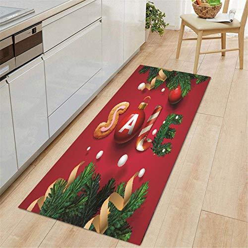 Merry Christmas Welcome Doormats Indoor Home Carpets Decor 70X140cm, Xmas Printed Floor Mat, Multicolor