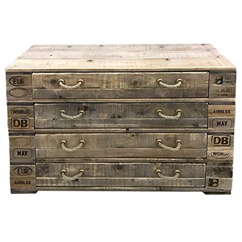 Palettenmöbel Kommode/Sideboard, PUPONGA-HIGH, Neuholz in klassischer Paletten Optik, jedes Teil ist einzigartig und Wird in Deutschland in Handarbeit gefertigt