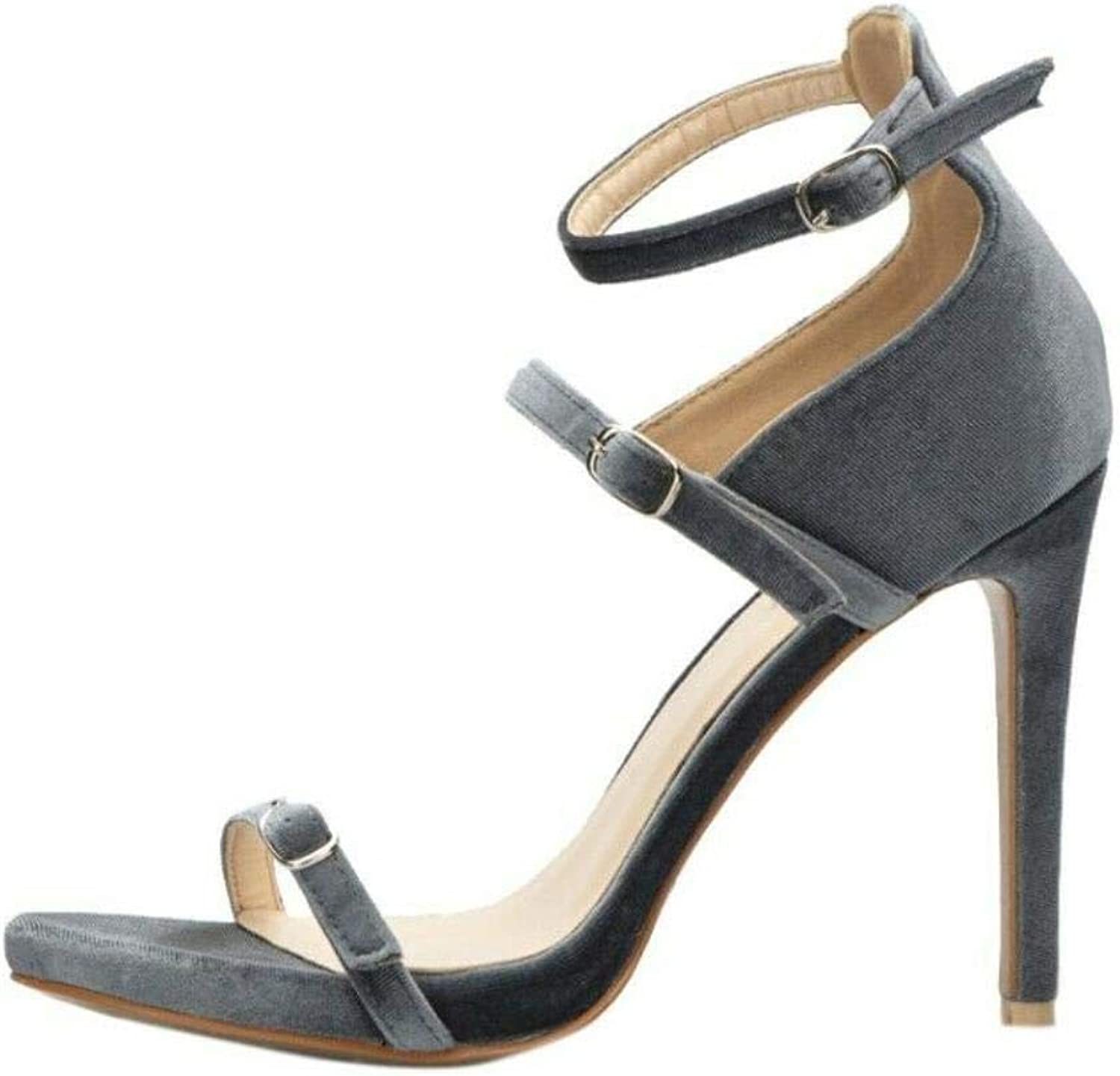 Ladies High Heels Ankle Straps Seals Buckle Summer Casual Party sautope,G ,UK8=US10=AU9=EUR 42