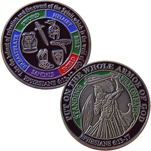 Whole Armor of God Ephesians 6:13-17 Challenge Coin Collector's Medallion