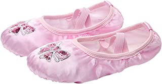 Milisten 1 Pair Girls Ballet Practice Shoes Yoga Shoes Embroidery Dance Ballet Shoes Slipper for Toddler Dance Shoes