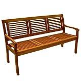 Gartenbank 3-Sitzer Eukalyptus Hartholz Günstig & Gut