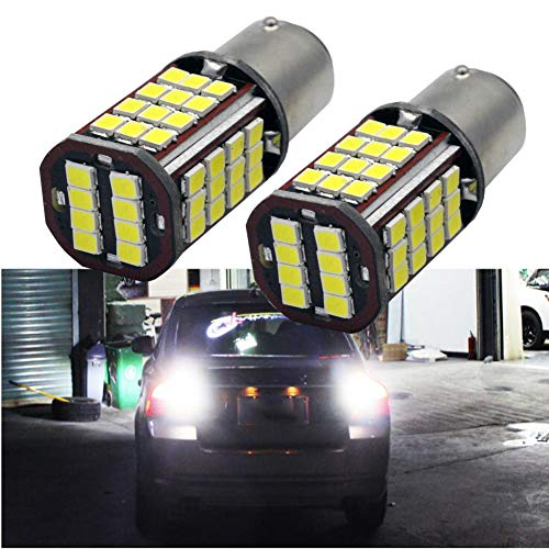 Ruiandsion 1157 Lot de 2 ampoules LED ultra lumineuses Blanc 6000 K 24 V 2835 56 SMD