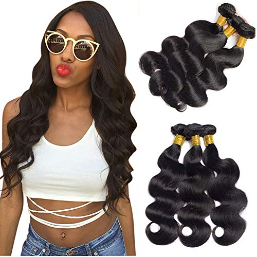 Echthaar Tressen zum Einnähen Body Wave Locken Weave Verlängerung 100% Real Human Hair Menschliches Haare Short Soft Hair Weft 10 12 14 zoll