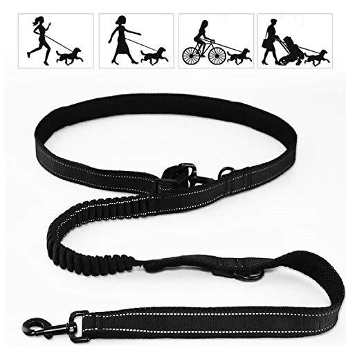 GDDYQ hondenriem, meerdere functies met reflecterende elastiek, verstelbare bescherming, hondenriem