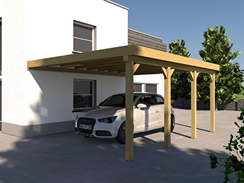 Anlehncarport Carport EIFEL IV 400x600cm Bausatz, Anlehn Carport