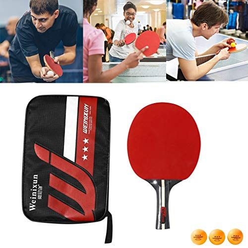 Read About Darkduke Ping Pong Paddle/Table Tennis Racket Set-Professional Set 3 Table Tennis Balls-P...